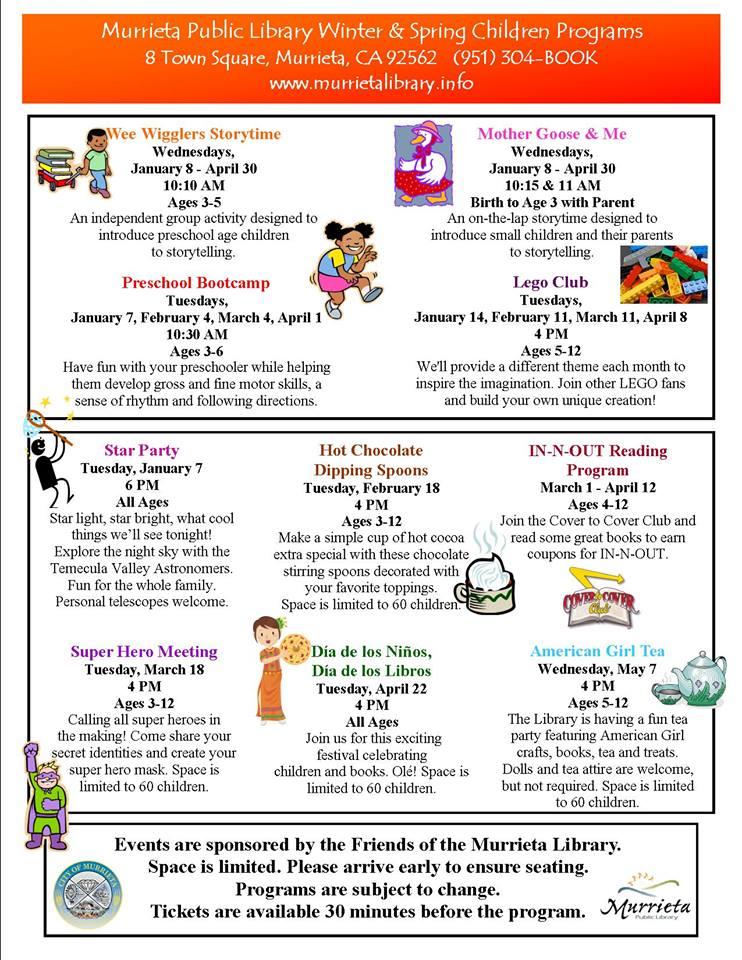Murrieta Public Library Children's Programming